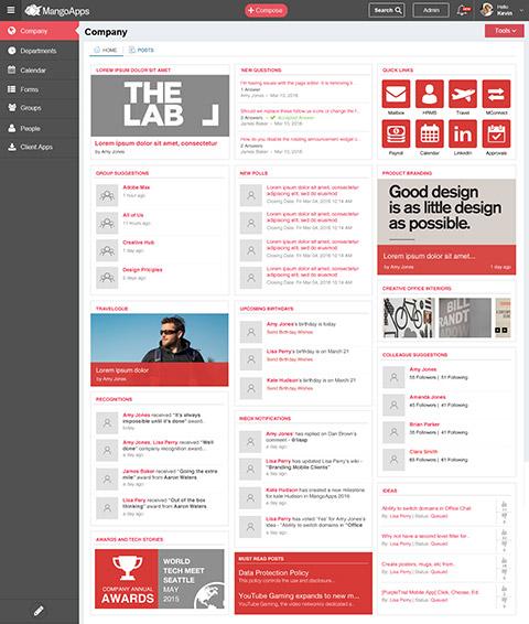 The Best Design Solutions: Modern Intranet, Social Intranet, Simple Intranet, Best